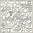 Stock Vector: Hand drawn geometric shapes