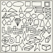 Hand drawn geometric shapes — Stock Vector