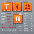 Vector de stock : Editable calendar 2013-2016