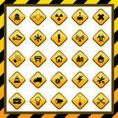 Construction and hazard signs — Stock Vector