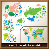 Countries of the world — Stock Vector