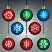 Christmas decorations — Stock Vector