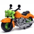 Plastic motorcycle toy — Stock Photo