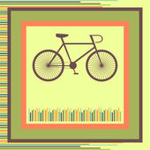 Bicycle. greeting card — Stock vektor