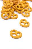 Tasty pretzels isolated on white — Stock Photo