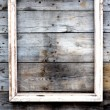 Empty wooden frame on a grunge background — Stock Photo