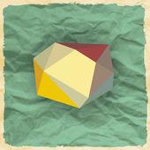 三角形と抽象的な背景 — ストックベクタ