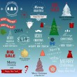 Set of vector Christmas elements — Image vectorielle