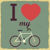 Retro Illustration Bicycle — Stock Vector