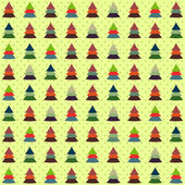 Seamless background of colorful Christmas trees — Stock Vector