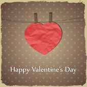 Happy Valentine's Day greetings card — Vettoriale Stock