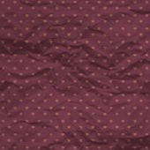 Seamless hearts polka dot pattern with crumpled paper — Vettoriale Stock