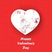 Valentine's Day greeting card with grunge heart — Stockvektor