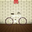 Illustration bicycle over brick wall — Stock Vector #37193843