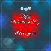Vector Geometric Mosaic Heart for Valentines Day Design — Vector de stock