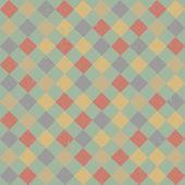 Retro patrón de formas geométricas. banner colorido mosaico. — Vector de stock