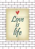 Liebe ist leben. — Stockvektor