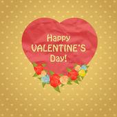 Conception de coeur joyeux saint valentin. — Vecteur