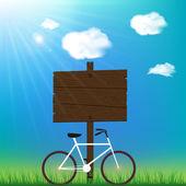 Slunečný den pozadí s kol a prostor pro váš text. — Stock vektor