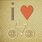 Retro Illustration Bicycle. — Stock Photo