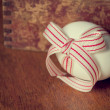 Stock Photo: Easter egg with red bow