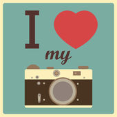 I love my camera — Vector de stock