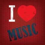 I love  music — Stock Vector #43147533