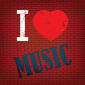 Я люблю музыку — Cтоковый вектор