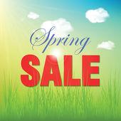 Spring sale — Stock Vector