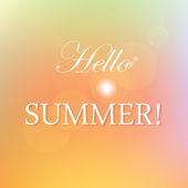 Hello  summer! — Stock Vector