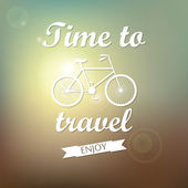 Vector background. Time to travel. — Stock Vector