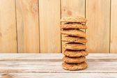 Stapel van havermout cookies — Stockfoto