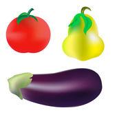 Vegetables realism — Stock Vector
