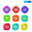 Set of colorful 3d buttons. Vector illustration. — Stock Vector