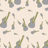 Vektor musik seamless mönster — Stockvektor