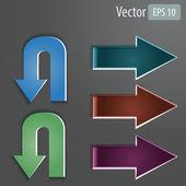 набор векторных стрелки — Cтоковый вектор
