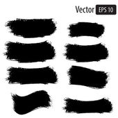 Vector black grunge banners — Stockvektor
