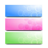Abstract banner with circles — Cтоковый вектор