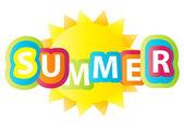 Summer vector background. — Stock Vector