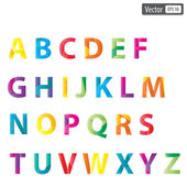 Vector colourful alphabet set — Stock Vector