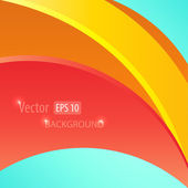 Colorful smooth twist light lines vector background. — Vector de stock