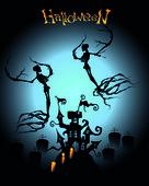 Dementors on Halloween — Stock Vector