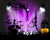 Rock concert on Halloween — Stock Vector