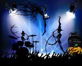 Rock concert on Halloween — Stock Vector