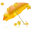 Stock Vector: Yellow umbrella