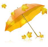 Yellow umbrella — Stock Vector