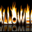 图库照片: Burning halloween