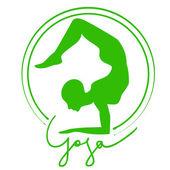 Yoga Logo — Stock Vector