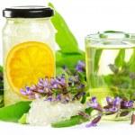 Sweet herbal tea and naturopathy — Stock Photo