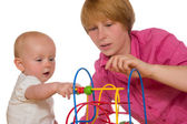 Mother and baby playing together — Stock Photo